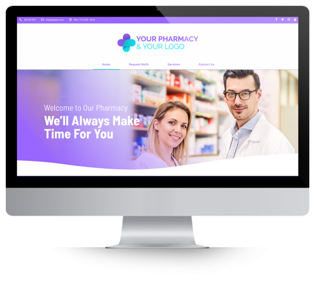 Pharmacy Websites displayed on mac