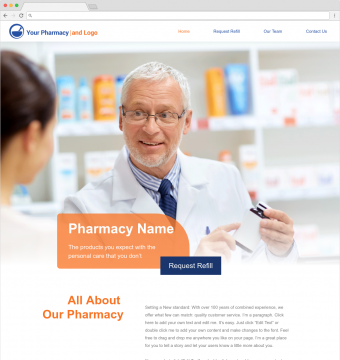 pharmacy website designs demo 1