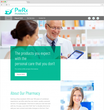 pharmacy website design demo 4