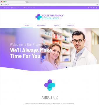 pharmacy website designs demo 2